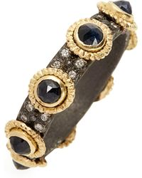 Armenta - Old World Sapphire & Diamond Stacking Ring - Lyst