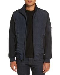 Michael Kors | Mixed Media Quilted Jacket | Lyst