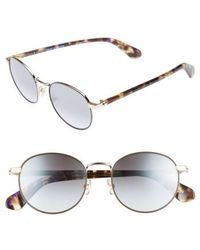 Kate Spade | Adelais 50mm Round Sunglasses | Lyst