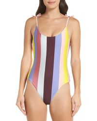 Ted Baker - Penolia Rio Stripe One-piece Swimsuit - Lyst