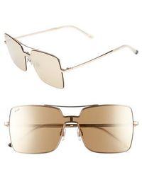 Web - 55mm Square Metal Shield Sunglasses - Lyst