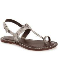 Bernardo | Maverick Snake-print Leather Thong Sandals | Lyst