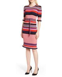BOSS - Fantonia Stripe Knit Sheath Dress - Lyst