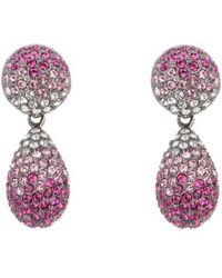 Nina - Teardrop Swarovski Crystal Earrings - Lyst