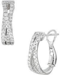 Bony Levy - Twist Diamond Hoop Earrings (trunk Show Exclusive) - Lyst