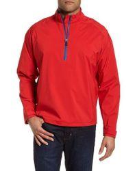 Bugatchi | Regular Fit Half Zip Performance Pullover | Lyst