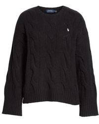 Polo Ralph Lauren - Dolman Sleeve Cable Knit Sweater - Lyst