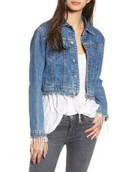 Hudson Jeans - Garrison Crop Denim Jacket - Lyst