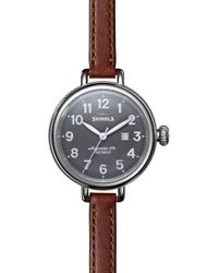 Shinola - The Birdy Leather Strap Watch - Lyst