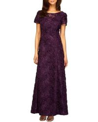Alex Evenings - Embellished Lace Gown - Lyst