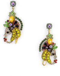 Elizabeth Cole - Marisal Crystal Earrings - Lyst