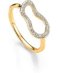 Monica Vinader - Riva Mini Pod Vermeil Diamond Ring - Lyst