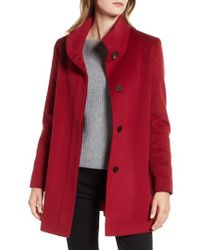 Fleurette - Placket Front Wool Car Coat - Lyst