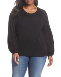 Sejour - Balloon Sleeve Pullover - Lyst