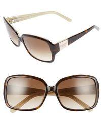 e54593e443c Lyst - Kate Spade New York  lulu  55mm Rectangular Sunglasses in Black