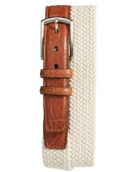 Torino Leather Company - Woven Cotton Belt - Lyst