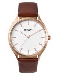 Breda - Asper Round Leather Strap Watch - Lyst