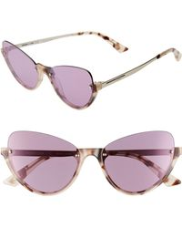 a7d6f0959 Jimmy Choo Lu/S Fhf42 Transparent Nude Crystal Women'S Sunglasses in ...
