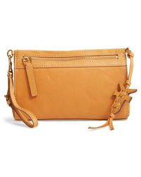 Frye - Carson Leather Wristlet/clutch - Lyst