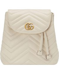 2b5a15a61 Gucci Women's GG Marmont Chevron Quilted Leather Mini Backpack ...