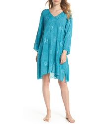a27a27ddc89 Polo Ralph Lauren Voile Tie Back Tunic Cover-up (blue/white) Women's ...
