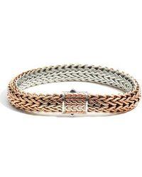John Hardy - Classic Chain Flat Chain Reversible Bracelet - Lyst