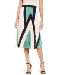 Leith - Pleated Midi Skirt - Lyst