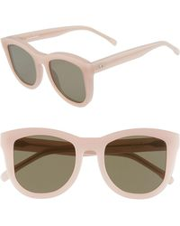 Valley Eyewear - 50mm Trachea Retro Sunglasses - Baby Pink/ Brown - Lyst