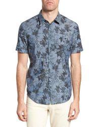 John Varvatos - Regular Fit Print Short Sleeve Sport Shirt - Lyst