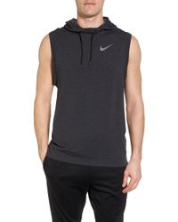890600ef67982 Lyst - Nike Dry Training Day Sleeveless Hoodie in Gray for Men