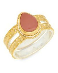 Anna Beck - Guava Quartz Double Band Ring - Lyst