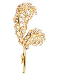 Nadri - Pave Double Feather Pin - Lyst