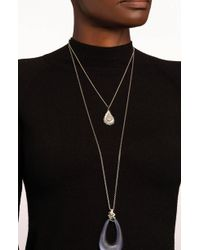 Alexis Bittar - Scattered Crystal Baguette Long Pendant Necklace - Lyst