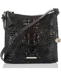 Brahmin - Katie Croc Embossed Leather Crossbody Bag - Lyst