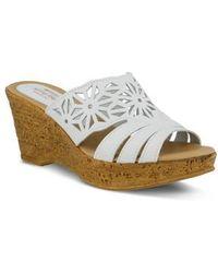 Spring Step   Dora Wedge Sandal   Lyst