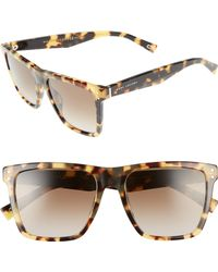 Marc Jacobs - 54mm Flat Top Gradient Square Frame Sunglasses - - Lyst