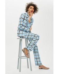 TOPSHOP - Check Trousers - Lyst