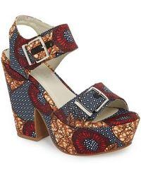 Kenneth Cole - Shayla Platform Sandal - Lyst