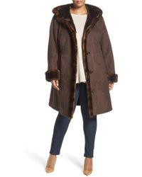 Gallery | Faux Shearling A-line Coat | Lyst