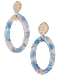 BaubleBar - Triana Drusy & Oval Drop Earrings - Lyst