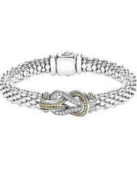 Lagos - Caviar Newport Diamond Station Bracelet - Lyst