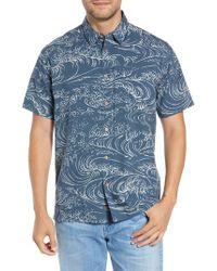 Quiksilver - Wind & Waves Regular Fit Sport Shirt - Lyst
