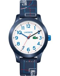 Lacoste - 12.12 Rubber Strap Watch - Lyst