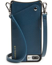 Bandolier - Pebbled Leather Iphone 6/7/8 Plus Crossbody Case - - Lyst
