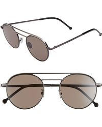 Cutler & Gross - 50mm Polarized Round Sunglasses - - Lyst