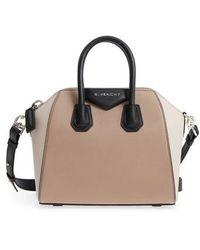 Givenchy - Mini Antigona Tricolor Sugar Leather Satchel - Lyst