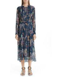 Isabel Marant - Dalika Dragon Print Silk Blend Dress - Lyst