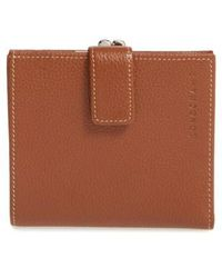 Longchamp - 'le Foulonne' Pebbled Leather Wallet - - Lyst