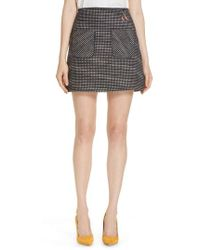 Ted Baker - Shaula Colour By Numbers Boucle Miniskirt - Lyst