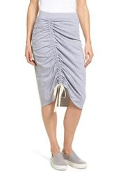 Caslon - Caslon Drawstring Cinched Pencil Skirt - Lyst